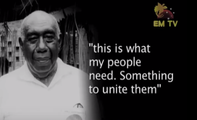 Apelis Mazakmat, the first indigenous Baha'i of the country. He was one of several early Baha'is in Papua New Guinea who were highlighted in a documentary program on the Baha'i Faith.