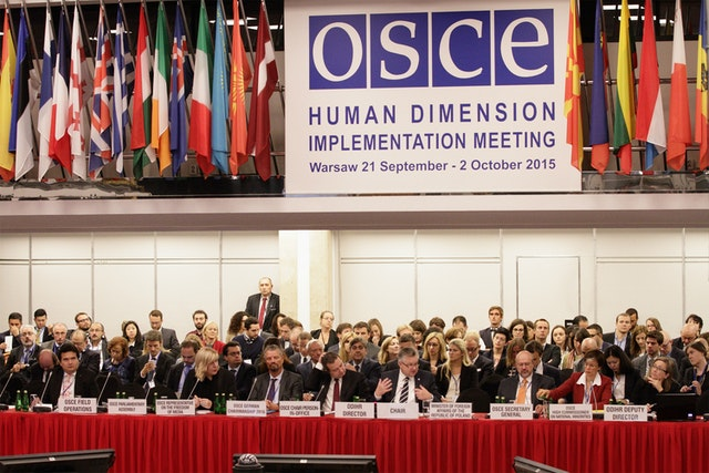 Opening session of the Human Dimension Implementation Meeting 2015 in Warsaw on 21 September. (Photo by OSCE/Piotr Markowski)
