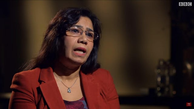 Ms. Mahnaz Parakand, a prominent Iranian lawyer who was herself imprisoned in Iran, is one of the experts interviewed in the BBC documentary, Iranian Revolutionary Justice. (photo: BBC/screenshot)