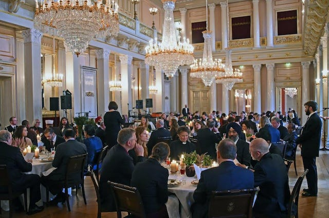 Up to 90 representatives from diverse religious organizations gathered at the royal palace in Oslo earlier this month as part of efforts to promote greater inter-religious dialogue and understanding. (Photo by Baha'i community of Norway)