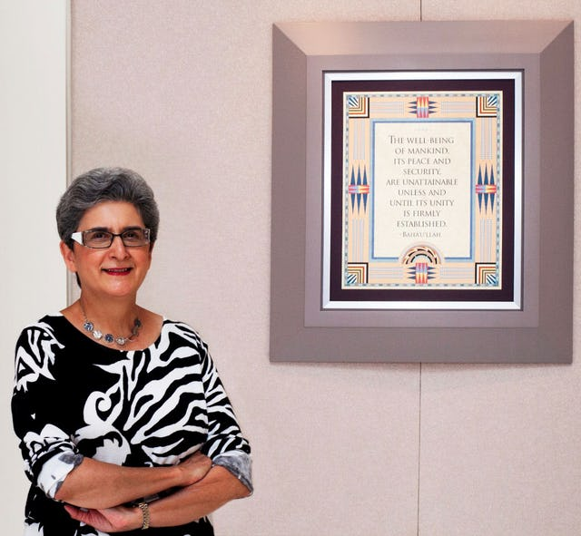 Dr. Hoda Mahmoudi, current holder of the Baha'i Chair for World Peace (Photo by Baha'i World News Service)