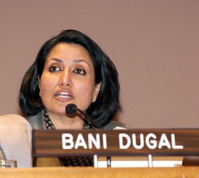 Bani Dugal, principal representative of the Baha'i International Community to the United Nations