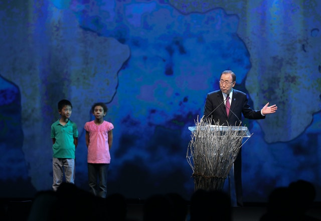 Secretary-General of the United Nations, Ban Ki-moon, gives the opening remarks at the World Humanitarian Summit, held in Istanbul, Turkey, from 23-24 May. Photo: World Humanitarian Summit