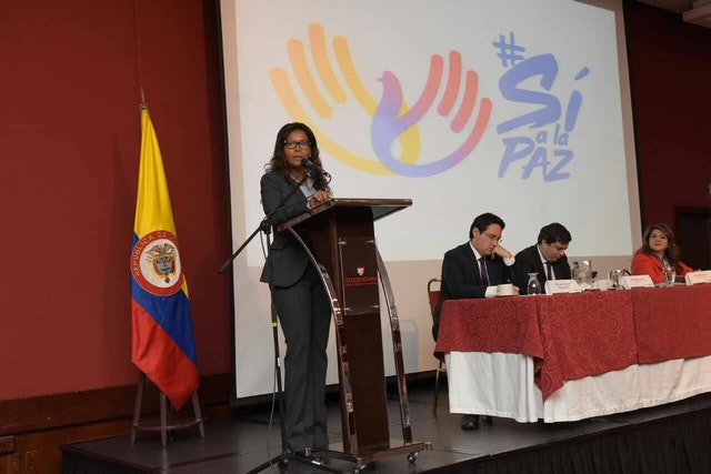 Deputy of the Interior Carmen Ines Vasquez speaks about the role religions can play in building peace in Colombia.