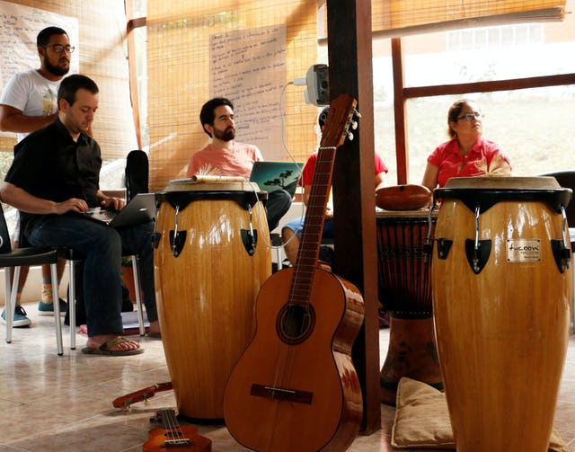 During the workshop in Ecuador from 16 to 26 July 2016, participants collaborated to create new songs.