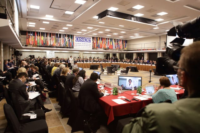 The Human Dimension Implementation Meeting of the Organization on Security and Cooperation in Europe (OSCE) (Photo credit: OSCE/Piotr Markowski)