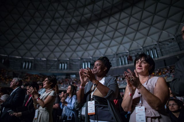 The audience, numbering nearly five thousand, was galvanized as it celebrated the opening of the Bahá'í Temple for the continent of South America.