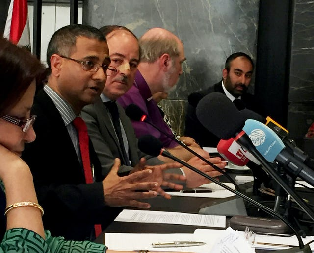 "Ahmed Shaheed, UN Special Rapporteur on freedom of religion or belief, speaks at the meeting of experts on ""Faith for Rights,"" organized by the Office of the United Nations High Commissioner for Human Rights in Beirut from 28-29 March 2017."
