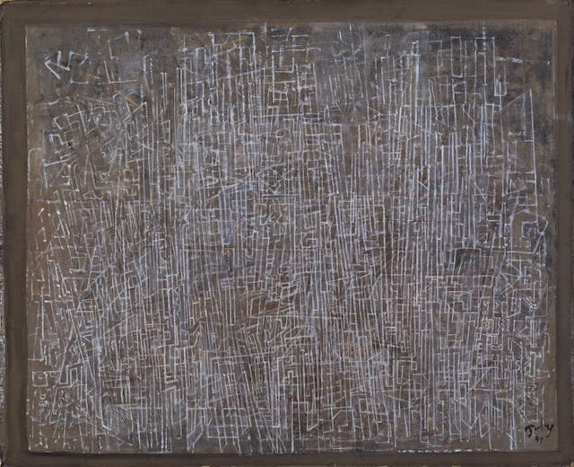 Mark Tobey Linee della citta(Lines of the City), 1945 Tempera su carta 45.4 x 55.25 cm Addison Gallery of American Art, Phillips Academy, Andover, MA, Lascito Edward Wales Root, 1957.36