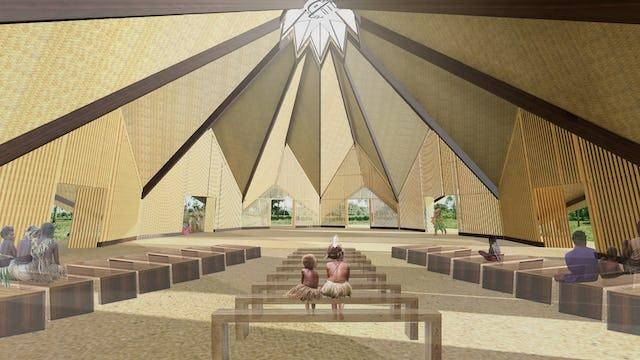 Vista interior del templo, con un aforo de 300personas.