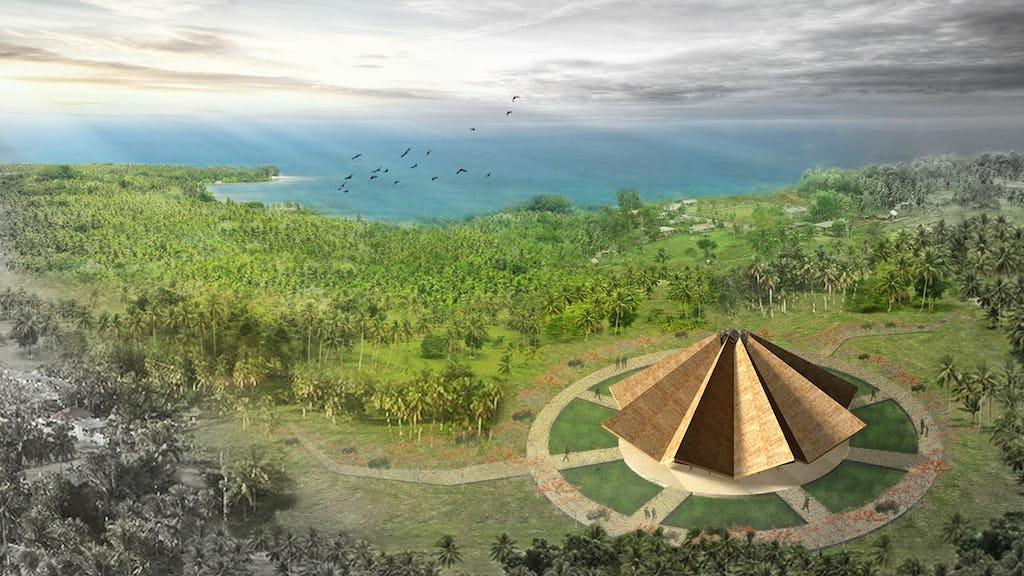 El diseño de la Casa de Adoración local en Tanna, Vanuatu