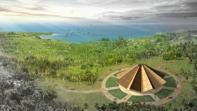 The design of the local House of Worship in Tanna, Vanuatu