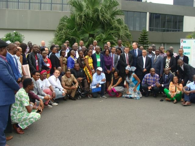 The Regional Consultation meeting for Africa Major Groups and Stakeholders from 10-11 June 2017 in Libreville, Gabon. BIC Representative Solomon Belay is sitting 3rd from the left.
