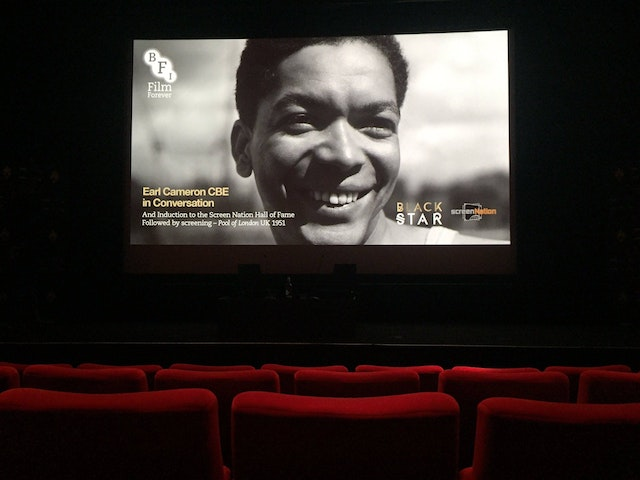 The British Film Institute honored Earl Cameron with a screening of Pool of London (1951), his first feature film. (Photo: Screen Nation Media 2016: Photography Carl Barriteau)