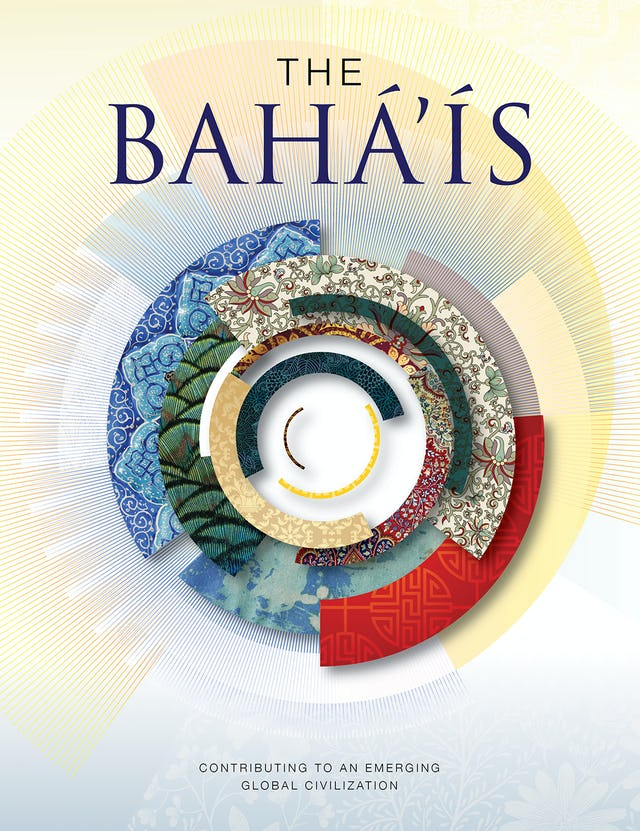 The front cover of The Baha'is