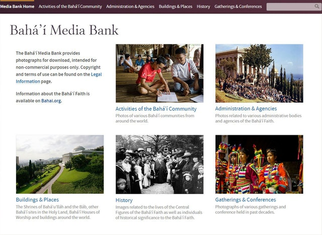 An updated Baha'i Media Bank was made available today.