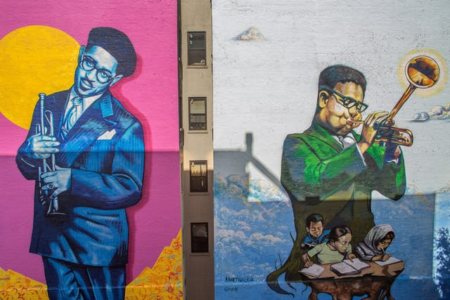 These two new murals in Harlem were painted to celebrate the 100th anniversary of Dizzy Gillespie's birth in October 1917.