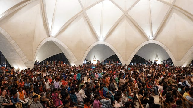 Around 5,000 invited guests participated in a celebration at the Temple in New Delhi, India.