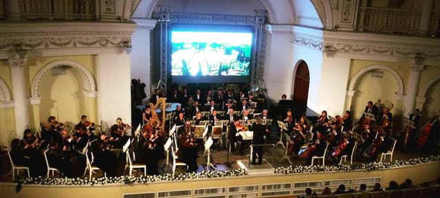 A performance from the State Philharmonic Orchestra in Azerbaijan in honor of the bicentenary