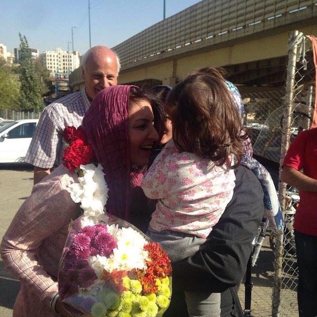 Fariba Kamalabadi, récemment libérée de prison, après avoir été achevé une peine de prison injuste
