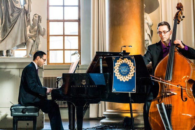 A classical music performance at a bicentenary celebration in Stockholm, Sweden