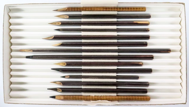 Reed pens used by one of the secretaries of Baha'u'llah are part of the display at the British Museum's John Addis Gallery.