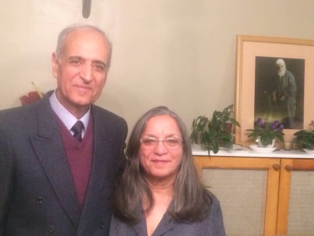 Behrooz Tavakkoli with his wife