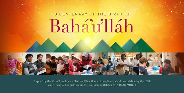 Celebrations of the bicentenary were captured on bicentenary.bahai.org.