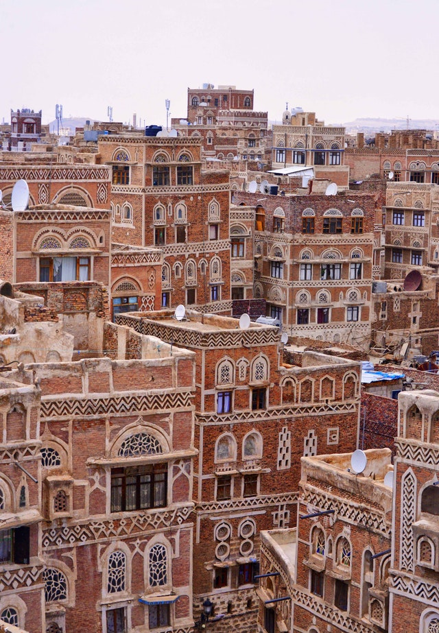 Image of the Old City of Sana'a. Sana'a is the largest city in Yemen. Photo credit: Rod Waddington