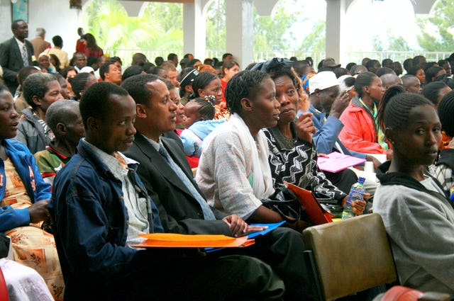 Some 1,200 people came to Nakuru, Kenya, during the second of 18 consecutive weekends of Baha'i regional conferences around the world. Nakuru is one of 41 cities and towns that will host a gathering.