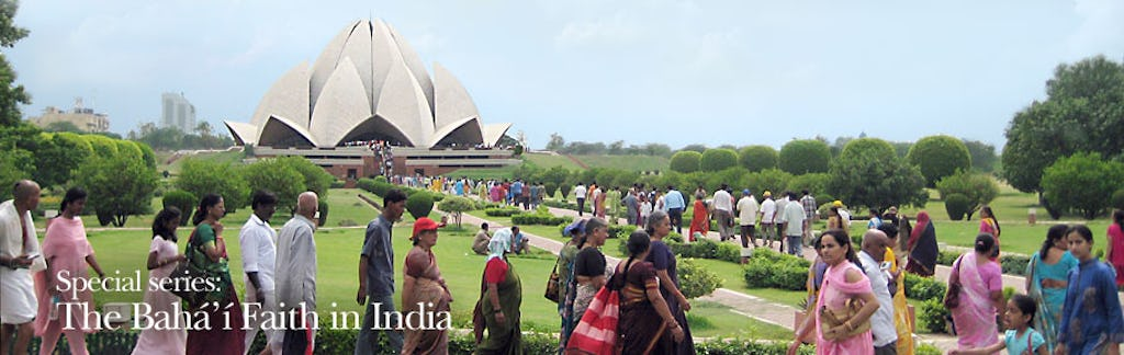 The Baha'i House of Worship in New Delhi, India, with more than 4 million visitors a year, is the most visited Baha'i property in the world.