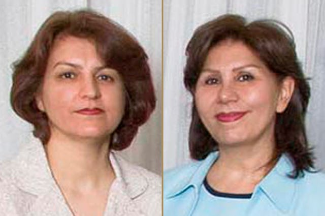 Fariba Kamalabadi, left, and Mahvash Sabet, right. The Baha'i International Community has confirmed that they have been transported back to Evin prison in Tehran from Qarchak prison.