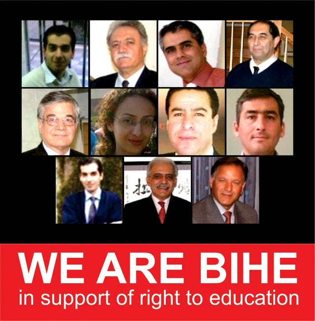 Los defensores de los derechos humanos han publicado un cartel en el que aparecen algunos de los miembros del personal del Instituto Bahá'í de Educación Superior que han sido detenidos en Irán. Estaban ofreciendo educación a los jóvenes miembros de la comunidad a los que el gobierno ha prohibido el acceso a la universidad.