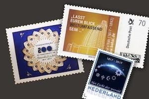 Des pays du monde entier conçoivent des timbres commémoratifs baha'is