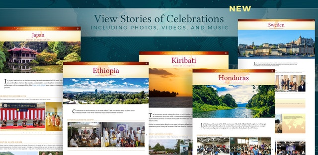 The new section of the bicentenary site features reports from countries and territories around the world.