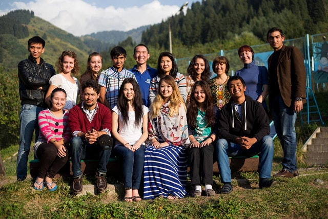 A group of youth attend the seminar in Kazakhstan, where the seminars have taken place since 2010.