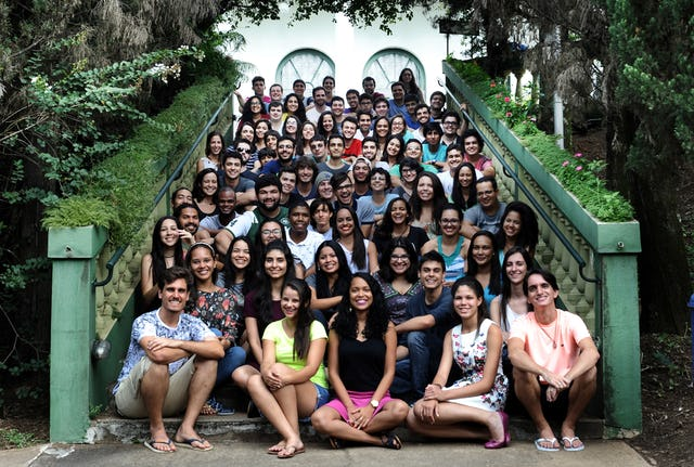 ISGP's seminars for university students will be held in more than 40 countries this year. These participants gathered at a seminar in Brazil.