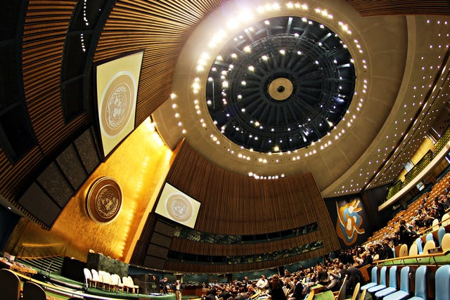 The proposal describes a stronger international governing body, based on the United Nations. (Photo by Basil D Soufi, accessed through Wikimedia Commons)