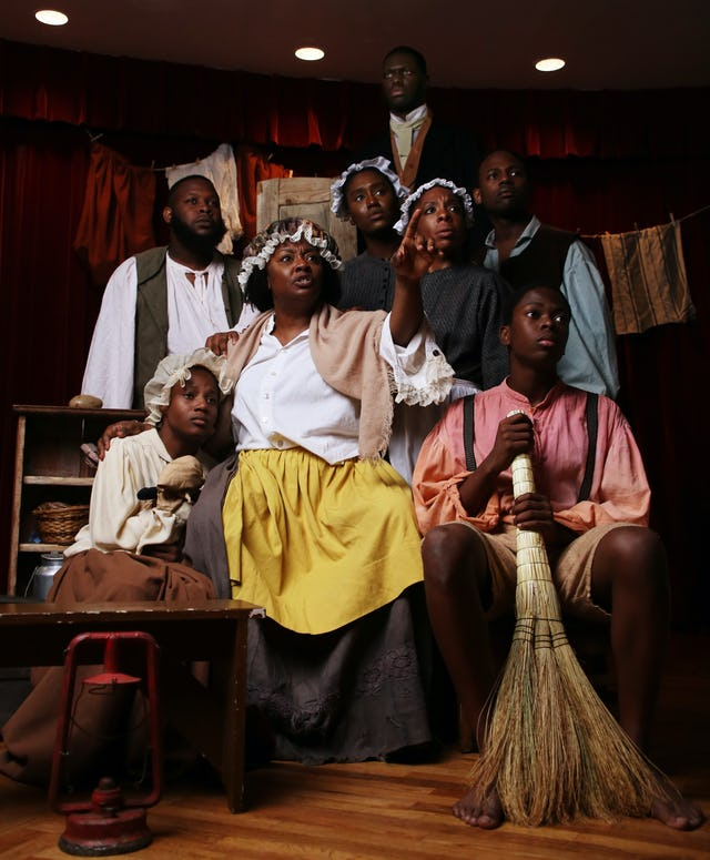 Members of the cast of Henry Box Brown act out a scene from the musical, which is being staged at the world-famous Fringe Festival in Edinburgh, Scotland.