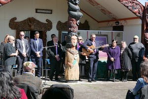 The publication of a Baha'i prayer book in the Maori language was commemorated at a local Maori community meeting grounds near Hamilton, New Zealand.