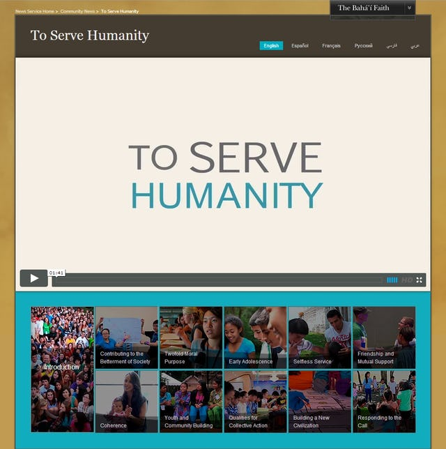 A series of short films on themes related to service to humanity are now available for viewing and download.