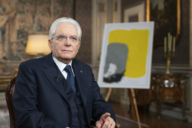 Italian President Sergio Mattarella addressed the Italian people in his annual New Year's Eve speech. The tradition of addressing Italians on New Year's Eve dates to 1949 when then-President Luigi Einaudi addressed the country on the radio and television. The speech is an opportunity for the president to discuss what he sees as important themes for the country. (Credit: Quirinale)