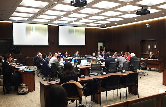 Geoffrey Cameron of the Canadian Baha'i community's Office of Public Affairs attended a Canadian Parliament committee hearing about combatting online hate speech. Dr. Cameron was among representatives of nine religious and other civil society organizations discussing the issue.