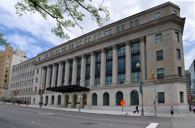 The Canadian Parliament's Standing Committee on Justice and Human Rights met in the Wellington Building in Ottawa, Ontario, on 11 April, hearing from the Baha'i community and others about how to deal with online hate speech. (Credit : Ericsteinhk, Wikimedia Commons)