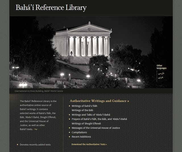 The Baha'i Reference Library has 67 newly published selections from the writings of 'Abdu'l-Baha, 34 of which are English translations and 33 are Persian originals.