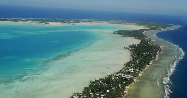 South Tarawa from the air (Credit: Government of Kiribati)