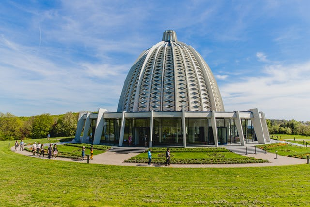 The Baha'i House of Worship in Langenhain, Germany, was dedicated in 1964.