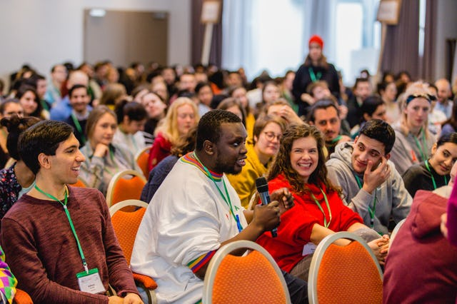 Seeing youth from a diversity of backgrounds studying, planning, and collaborating on how to be a source of positive change in their communities, participants at the conference explored practical ways to express the principles of the Baha'i Faith.