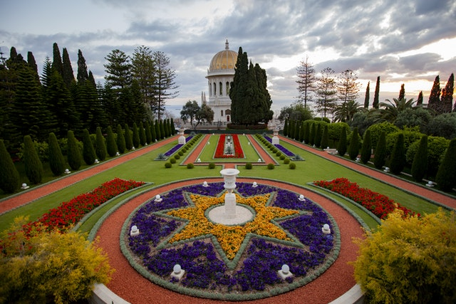 Baha'i pilgrimage consists of time for prayer and meditation in the Shrines, including the Shrine of the Bab on Mount Carmel in Haifa.