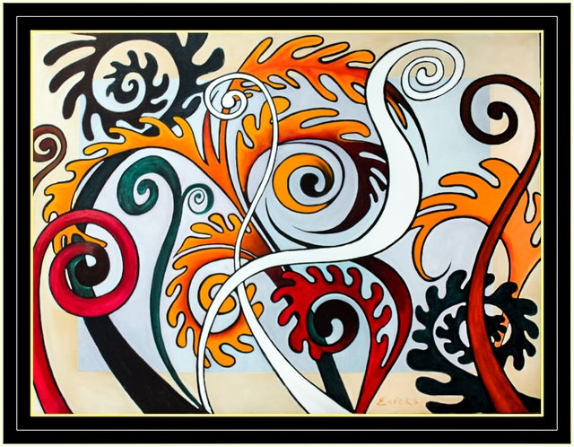 This is one of several paintings by an artist in Costa Rica whose work is inspired by the lives and teachings of the Bab and Baha'u'llah.